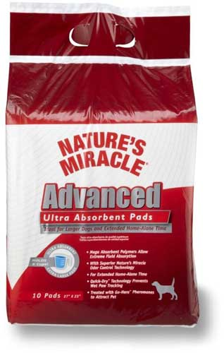 Nature`s Miracle Advanced Ultra Absorbent Pads ультра-абсорбирующие пеленки 10 шт