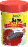 Tetra Betta Larva Sticks корм в форме мотыля для петушков и других лабиринтовых рыб